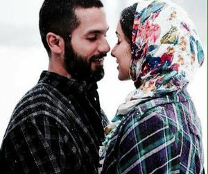 couple, romance, and snow image