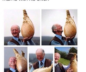 funny, happy, and onion image