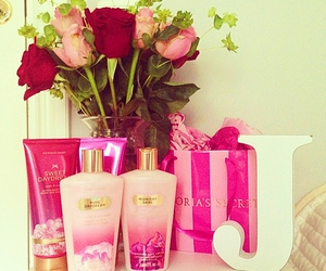 pink, Victoria's Secret, and roses image