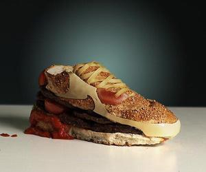 food, nike, and burger image
