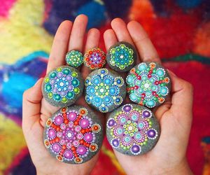 stones, mandala, and art image