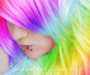 Claire and rainbow hair image