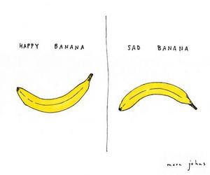 banana, happy, and sad image