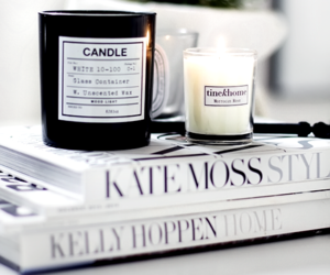 candle, kate moss, and decoration image