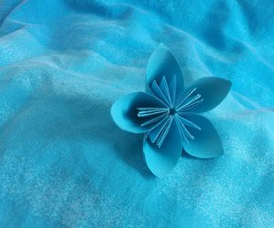 blue, paperflower, and diy image