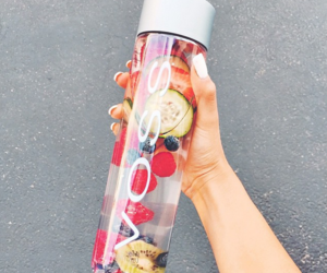 drink, voss, and food image