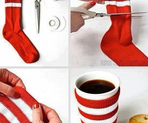 diy, socks, and coffee image