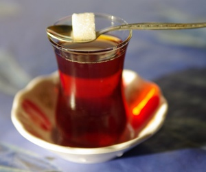 cup, glass, and tea image