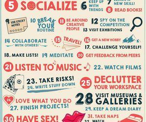 creative, inspiration, and motivation image