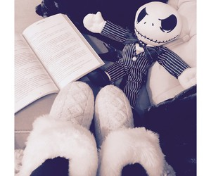 book, jack skellington, and read image