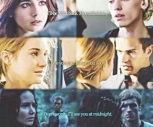 divergent, hunger games, and book image