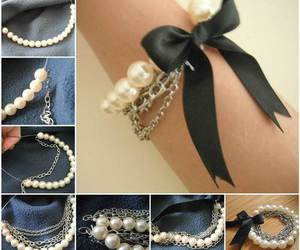 feminine, girly, and pearls image