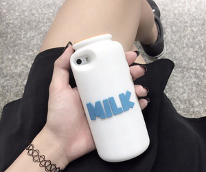 milk, grunge, and iphone image