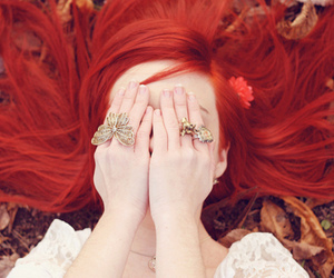 photo, red hair, and ring image