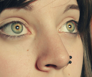 piercing, eyes, and girl image