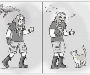 cat, metal, and metalhead image