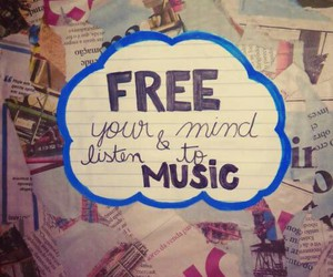 free, music, and peace image