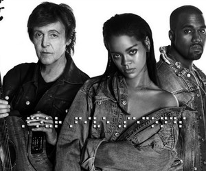 rihanna, kanye west, and fourfiveseconds image