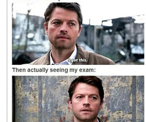 exam, spn, and supernatural image