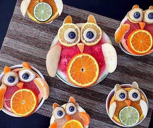 fruit, food, and owl image