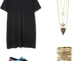 black, dress, and Polyvore image