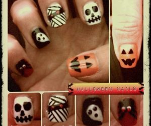 ghost, Halloween, and manicure image