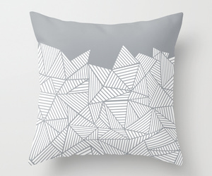 abstract, geometric, and mountain image