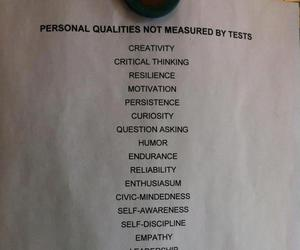 personal, qualities, and tests image