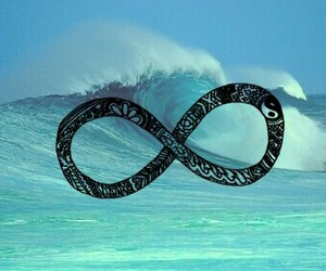infinity, ocean, and peace image