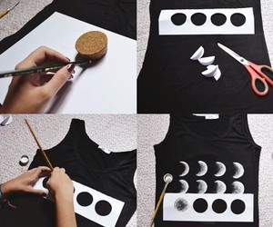 diy, moon, and black image