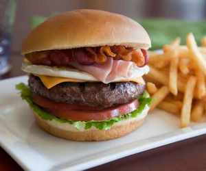 food, burger, and hamburger image