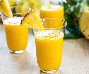 pineapple, drink, and juice image