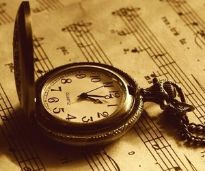 music, clock, and time image