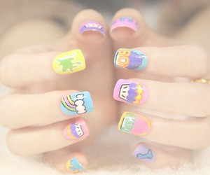 nails, love, and colors image