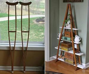 diy, crutches, and shelf image