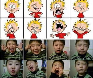 cute, calvin, and faces image