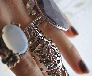 fashion, rings, and boho image