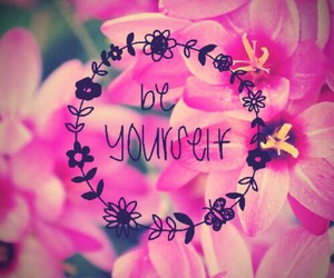 flowers, pink, and beyourself image