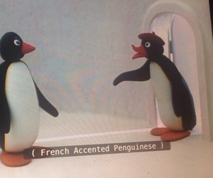 pingu, french, and funny image