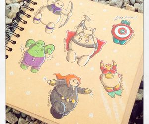 baymax, Avengers, and disney image
