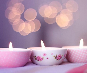 candle, pink, and light image