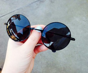 glasses, sunglasses, and grunge image