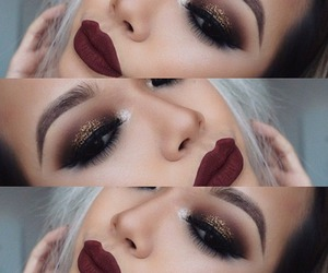 makeup, make up, and lips image
