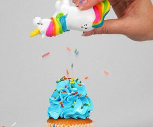 unicorn, cupcake, and food image