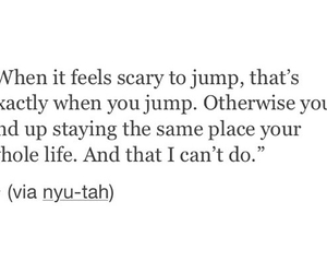 life, jump, and words image