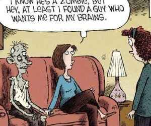 zombie, love, and funny image
