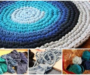 diy braided rug tutorial image