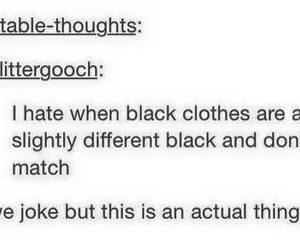 black, funny, and clothes image