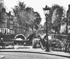 amsterdam and black and white image