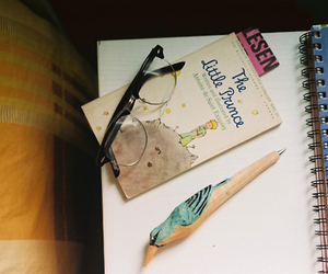 book, the little prince, and glasses image